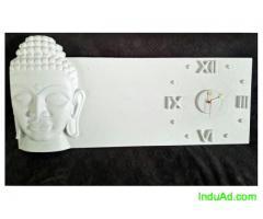 3D Buddha Wall Clock