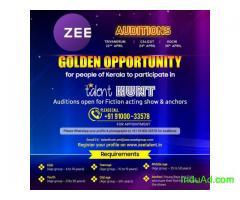 Zee Auditions for people of Kerela in Trivandrum
