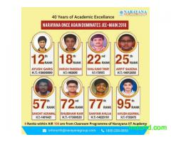 40 Years of Academic Excellance Narayana Once Again Dominates JEE-MAIN 2018