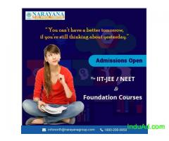 Admissions open for IIT-JEE/NEET/Foundation Courses in Narayana Academy,Chandigarh