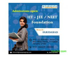 Admissions open for IIT-JEE/NEET/Foundation Courses in Narayana Academy,Faridabad