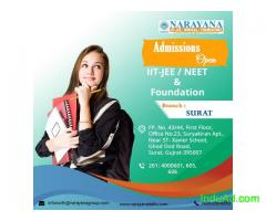 Admissions open for Foundation/IIT-JEE/NEET Courses in Narayana Academy,Surat