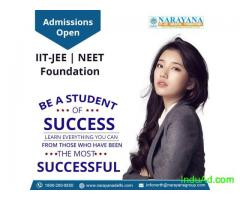 Admissions are now open at Narayana Academy for the IIT-JEE,NEET & Foundation course.