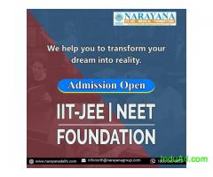 Admissions are now open at Narayana Academy for the NEET,IIT-JEE & Foundation course