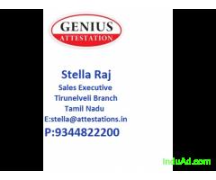 Certificate attestation in Tirunelveli