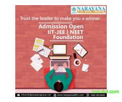 Admissions open for Foundation/IIT-JEE/NEET Courses in Narayana Academy