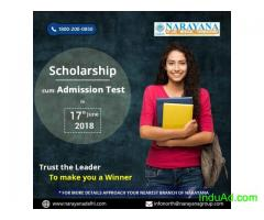 Scholarship cum Admission test for NEET,Foundation,IIT-JEE course at Narayana Academy,Dhanbad