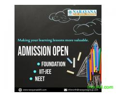 Admissions open for Foundation,NEET and IITJEE Courses