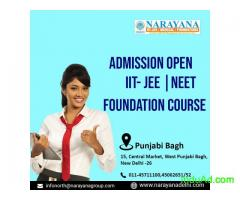 Admissions are now open for  IITJEE,Foundation and NEET Courses