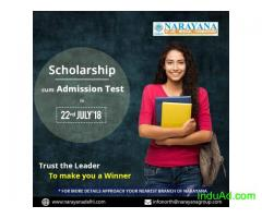 Scholarship cum Admission test on 22nd July at at Narayana Academy