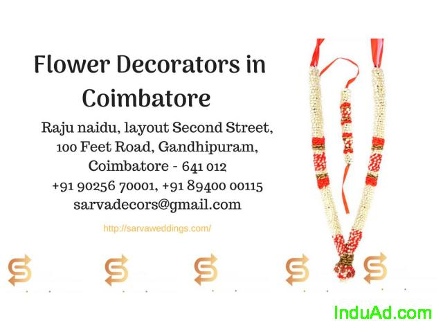 Flower decorators in Coimbatore | Wedding garlands in Coimbatore