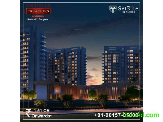 Ambience Creacions Apartments Sector 22 Gurgaon +91-90157-05000