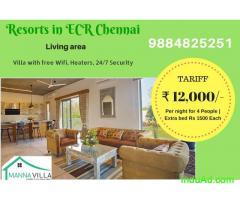 Beach house in ECR for rent | Mahabalipuram beach resorts