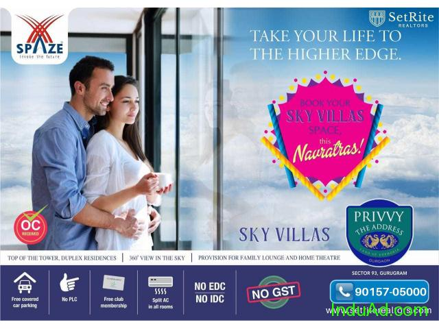 Spaze Sky Villas Apartments Sector 93 Gurgaon +91-90157-05000