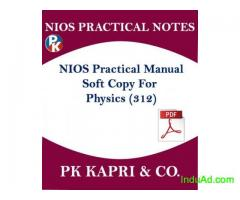 Nios Practical Lab Manual for 10th Secondary/12th Sr Secondary Class in Hindi/English Medium