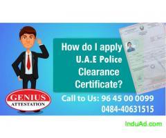 U.A.E  Police Clearance Certificate