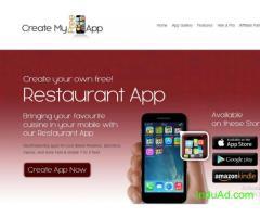 Free restaurant app maker, Create My Free App