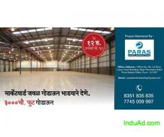 3000 sqft Godown for Rent Near Market Yard, Pune