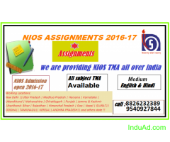 Solved Assignment  (NIOS) of Both Class.