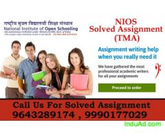 nios solved assignment We are helping in Assignment (TMA)
