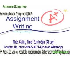 NIOS Solved Assignment IGNOU-M.Com, NIOS- 10th & 12th ONLINE/OFFLINE