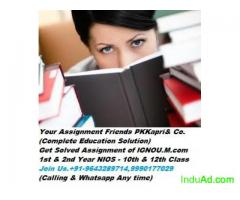 NIOS NIOS NIOS Solved assignment, Assignment on Urgent basis