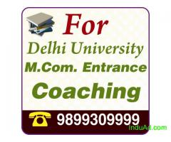 I WANT COACHING FOR M.COM ENTRANCE
